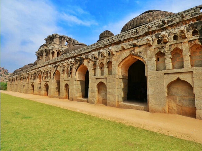 The huge elephant stables